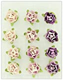 Prima 538743 Cameo Roses Miniature Mulberry Flower Embellishments, Heather