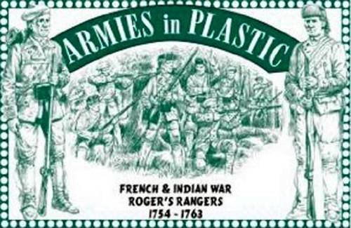 French Soldier Figure - Armies in Plastic Roger's Rangers French and Indian War Figures Offered By Classic Toy Soldiers, Inc