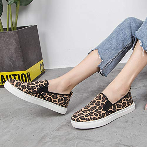 7f69c2b7ac666 Amazon.com: Yiwanjia Women's Vintage Loafers Leopard Print Shoes ...