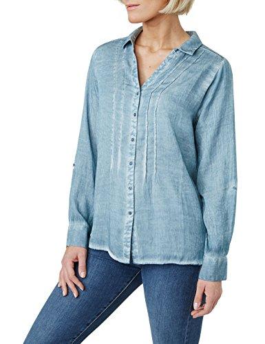 Pioneer Blau Blouse 3537 Bleu dusty Femme 6420 Blue 1613 rvTqr