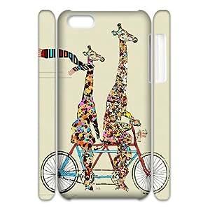 DIY Giraffes 3D Phone Case, DIY 3D Case Cover for iphone 5c with Giraffes (Pattern-4)