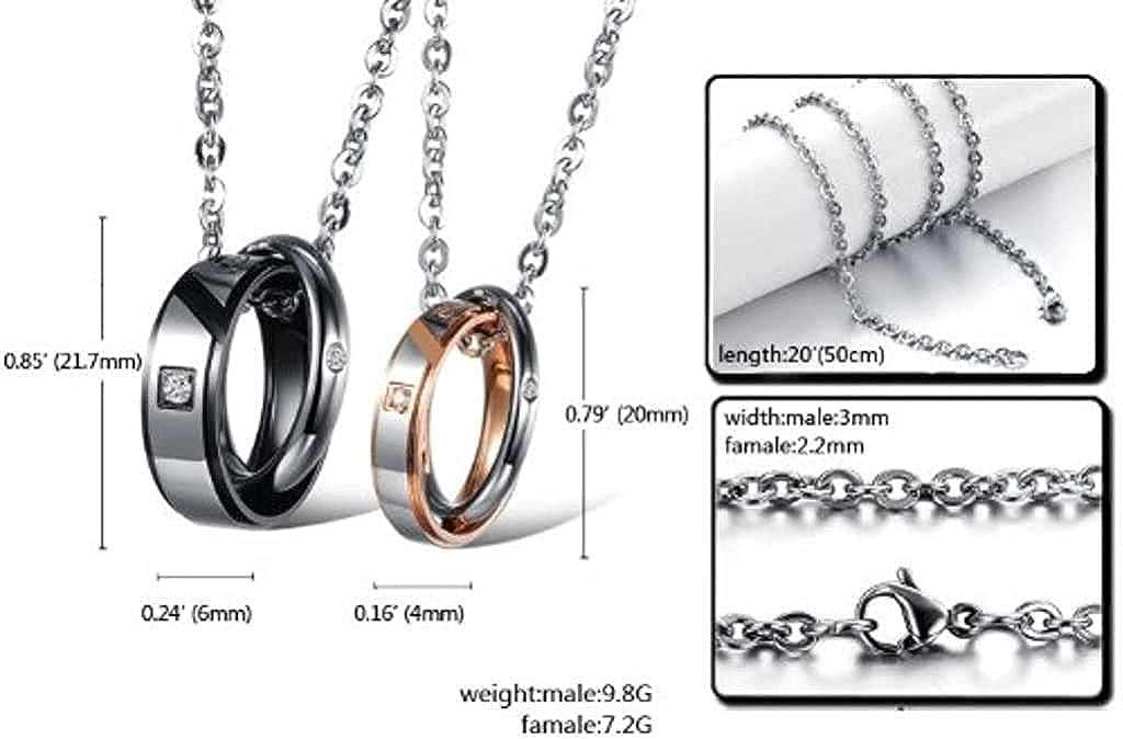 LOPEZ KENT Jewelry Men Stainless Steel Pendant Necklace Interlock 50CM