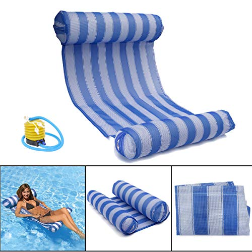 OUTERDO Water Hammock with Air Pump - Pool Lounger Float Hammock Inflatable...
