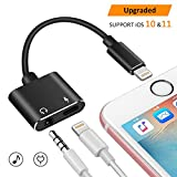 iPhone 7 Aux Adapter, WEIO 2018 NEW Lightning to 3.5mm Headphone Jack Audio Adapter with Lightning Aux Port Support Music Charge for iPhone 7 iPhone 8 Plus All Lightning Devices MFI Certified Aluminum