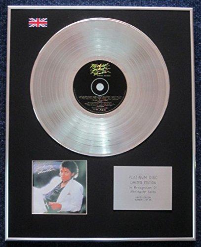Michael Jackson –  Limited Edition CD Platinum Disc –  Thriller LP (Special Edition) Century Presentations