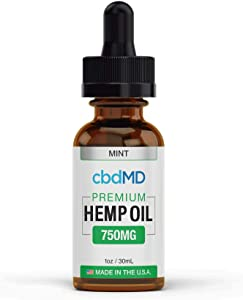750mg 1oz/30mL Pure Organic Premium Hemp Oil Tincture Drops for Pain Relief Anxiety Sleep Mood Stress Support 100% USA Grown Hemp Extract (Mint)