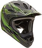 Kali Protectives US Savara Masquerade Helmet, Large, Black/Green