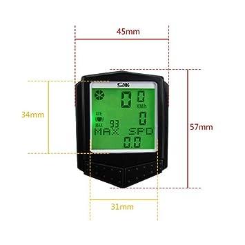 xluckx - Cronómetro inalámbrico para Bicicleta, multifunción, Impermeable, con Pantalla LCD retroiluminada,