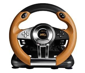 Speed-Link DRIFT O.Z. Racing Wheel, PC - Volante/mando (PC, Ruedas + Pedales, PC, Alámbrico, USB 2.0, 2m, Negro, Naranja)