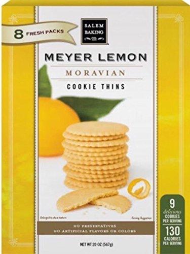 Salem Baking Meyer Lemon Moravian Cookie Thins 20oz (Lemon Thins)