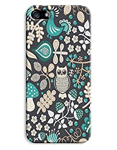 Dark Green Owls Case For Ipod Touch 4 Cover