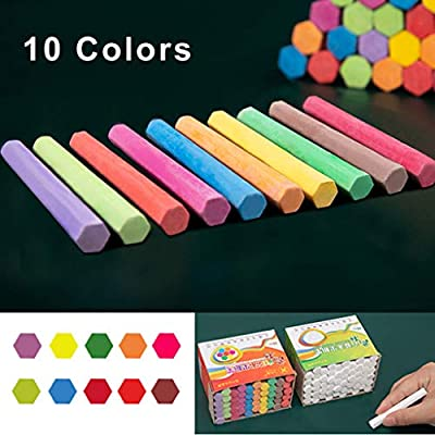 LIFERRI 50 Pieces Dustless Washable Sidewalk Chalk,Bucket Bundle of Chalk & Educational Game Accessories,Jumbo Street Chalk For Kids | Bulk Sets (A): Office Products