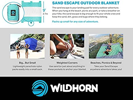 Meadow Green Color WildHorn Outfitters Sand Escape Beach Blanket