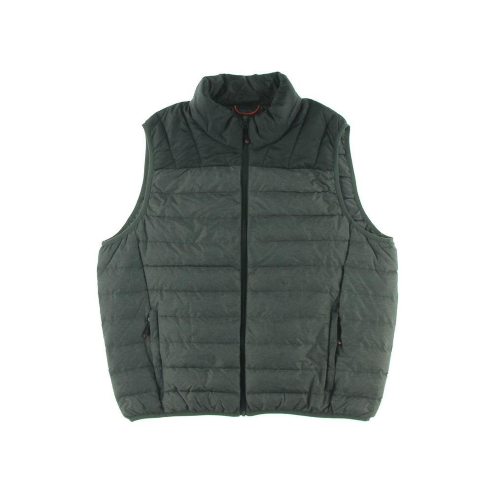 Hawke & Co Men's The Brooklynite Packlite Vest, Black/Dark Heather Grey, 2XLarge by Hawke & Co