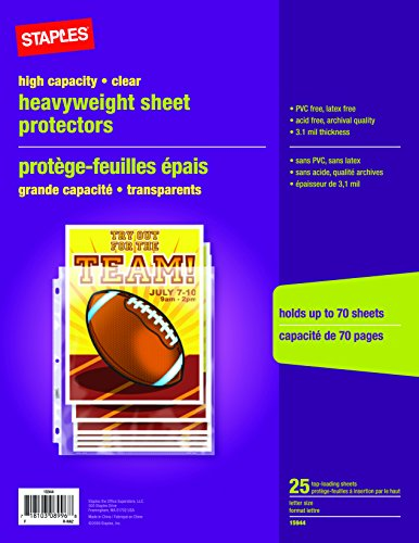 UPC 718103089968, Staples High Capacity Sheet Protectors