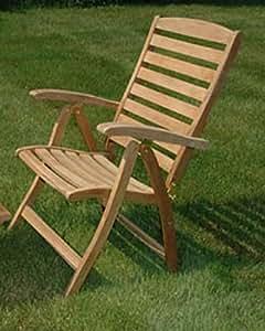 """43""""natural teca al aire libre Patio Portsmouth plegable reclinable silla"""