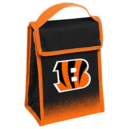 NFL Cincinnati Bengals Lunch Bag, Team Colors, One Size