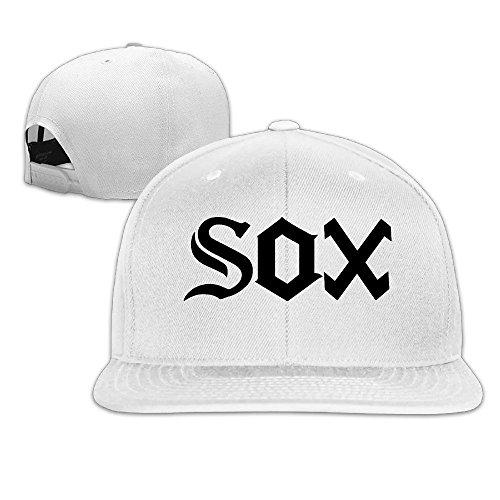 BODAP Chance The Rapper SOX Logo Adjustable Flat Brim Baseball Cap White