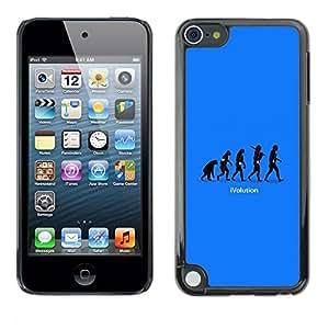 YiPhone /// Prima de resorte delgada de la cubierta del caso de Shell Armor - Cool Funny Ivolution Evolution Technology - Apple iPod Touch 5