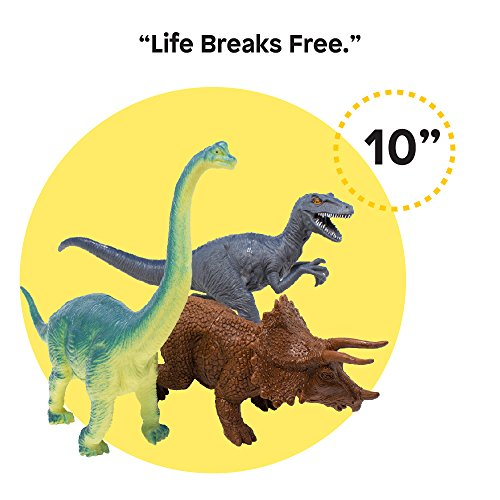 "Boley 10"" Educational Dinosaur Toys - Realistic Jurassic Dinosaur Figures (Pack of 14)"