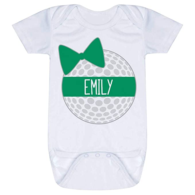 Amazon.com: Golf y de bebé Infant Onesie | Personalizado ...