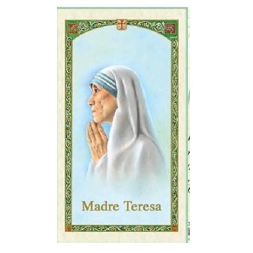 Gifts by Lulee, LLC Oracion a La Madre Teresa De Calcuta Tarjeta De Rezo Laminada Bendita Por Su Santidad Francisco