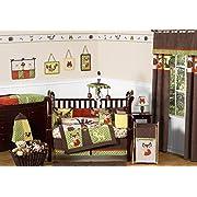 Sweet Jojo Designs 9-Piece Woodland Forest Animals Owl Deer Tree Baby Boy Nature Bedding Crib Set