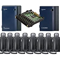 Panasonic KX-TDA50G Small Office Business Phone System 8pc KX-DT543 Black KX-TVA50 Voicemail KX-TDA5172 8 Port Expantion Card
