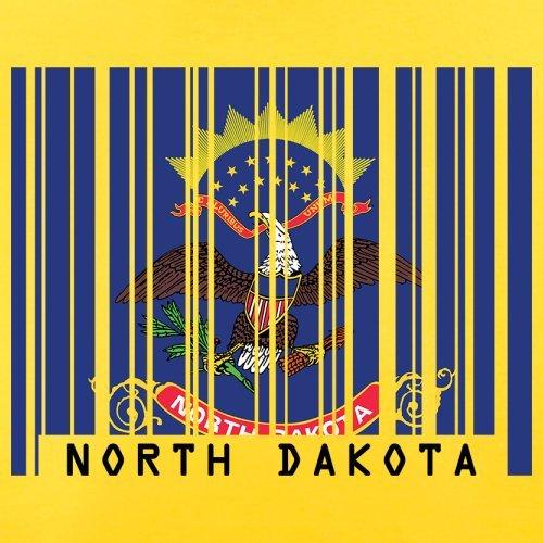 North Dakota / Nord-Dakota Barcode Flagge - Herren T-Shirt - Gelb - L
