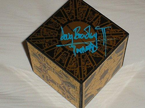 DOUG BRADLEY Signed 3x3x3 PuzzleBox Hellraiser Pinhead Autograph RARE