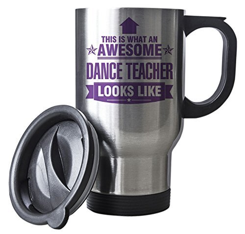 PURPLE This is what an AWESOME Dance Teacher Looks like SILVER Mug - Gift ide... by Duke Gifts