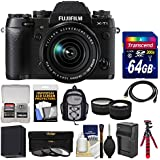 Fujifilm X-T1 Weather Resistant Digital Camera & 18-55mm XF Lens with 64GB Card + Backpack + Battery & Charger + Tripod + Tele/Wide Lens Kit