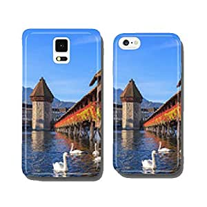Lucerne, the Chapel Bridge in early morning cell phone cover case iPhone6 Plus