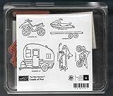 Rubber Stamp Frames Trailer Snowmobile ATV Bike Love Outdoor Loads of Fun Rubber Stamp