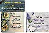 Fridge magnets with inspirational quotes, 2 pcs