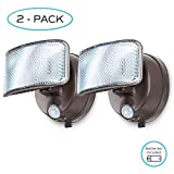 Cheap Home Zone Security Motion Sensor Activated Battery Powered LED Security Light 2 Pack (Battery Included)