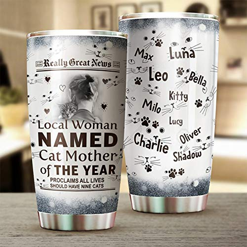Thermal Travel Cup 4 Cupbase Drinkware Pets Water Bottle -Gifts for Her 20 oz Tumbler-3D Rambler Double Wall Vacuum Insulated Coffee Mug Stainless Steel Water Lid