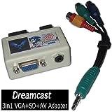 【Dianziオリジナル】DC 3in1 VGA+SD+AV アダプター with AV ケーブル アダプター [CXD1504] [並行輸入品]