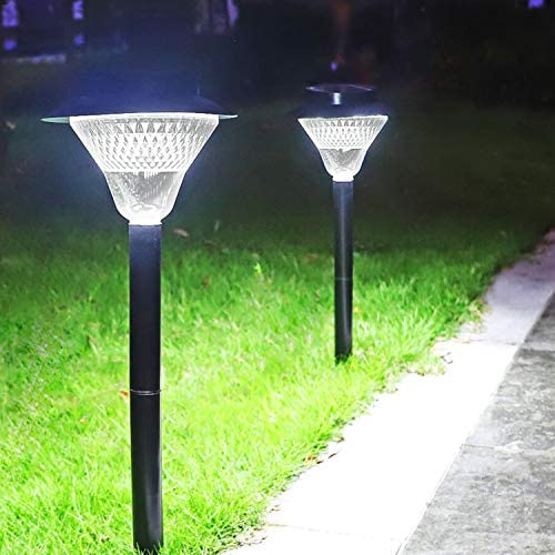 Solar Pathway Lights,Dusk to Dawn Outdoor Solar Powered 39 LED Walkway Path Lights, 3X Brightness 80Lumen Security Lights for Garden, Landscape, Path, Yard, Patio, Driveway-6000K Cold White 2 Pack