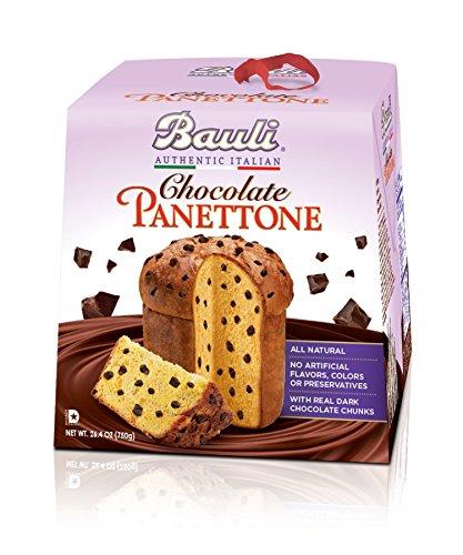 Bauli Panettone Chocolate Chip Italian Holiday Cake, 750 Gram (Christmas Cake Italian)