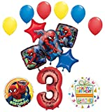 Mayflower Products The Ultimate Spider-Man 3rd Birthday Party Supplies and Balloon Decorations