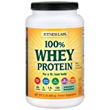 Fitness Labs 100% Whey Protein Unflavored and Unsweetened (2 Pounds)