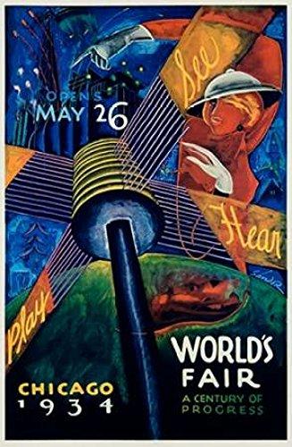 Posterazzi Chicago Worlds Fair 1933-34 Poster Print by Sandor (24 x 36)