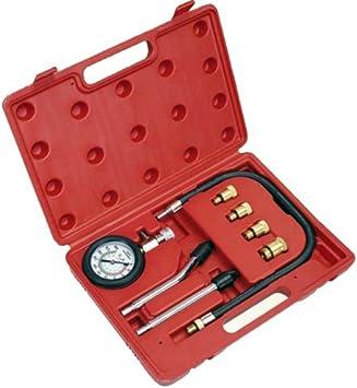 Motor Kompressionsprüfer Tester Kompressiontester Kompressionstester Satz Manometer 0 20 Bar Motor Instandsetzung Werkzeug Baumarkt