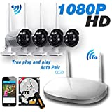 Ipccam Video Security System,4 Channel 1080P HD Wireless Security CCTV Surveillance Systems(WIFI NVR Kits)-4pcs 1080P Outdoor Bullet,P2P,65ft Night Vision, 1TB Hard Drive – Pre-installed Review