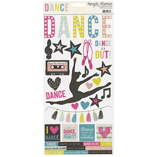 Simple Stories SSDA7886 Simple Sets Dance Cardstock Stickers 6