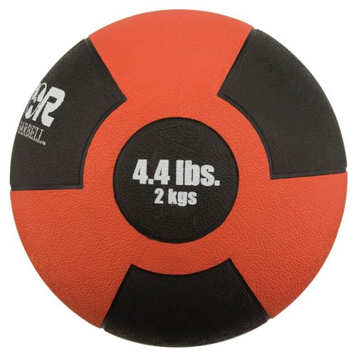 Champion Barbell 2kg Red Reactor Rubber Medicine Ball