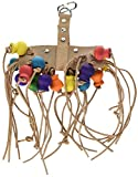 Penn Plax Leather Kabob Bird Toy for Medium-Large Sized Birds