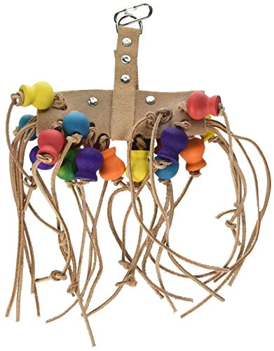 Penn Plax Leather Kabob Bird Toy for Medium-Large Sized Birds by Penn Plax