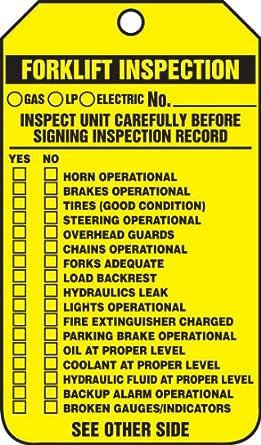 accuform trs336ptp forklift status tag legend forklift inspection record checklist forklift. Black Bedroom Furniture Sets. Home Design Ideas
